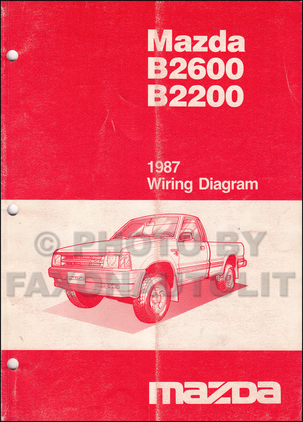 1987 Mazda B2200 B2600 Pickup Truck Wiring Diagram Manual ... on mazda b2600 parts, mazda 3 wiring diagram, mazda 5 wiring diagram, mazda b2600 engine, mazda parts diagram, mazda b2600 firing order, mazda protege wiring diagram, mazda b2600 body diagram, mazda b4000 wiring diagram, mazda b2600 exhaust system, mazda miata wiring diagram, 1989 mazda b2200 engine diagram, mazda b2200 wiring-diagram, mazda mpv wiring diagram, mazda b2600 antenna, mazda b3000 wiring diagram, mazda 323 wiring diagram, mazda 6 wiring diagram, mazda b2600 transmission, 1987 mazda b2000 engine diagram,