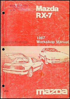 1987 Mazda RX-7 Repair Manual Original