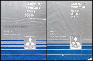 1987 Mitsubishi Cordia/Tredia Repair Manual Set Original