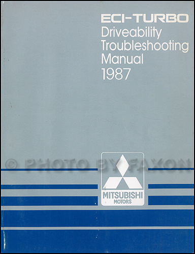 1987 Mitsubishi ECI-Turbo Engine Driveability Troubleshooting Manual Original