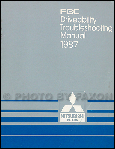 1987 Mitsubishi FBC Engine Driveability Troubleshooting Manual Original