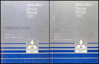1987 Mitsubishi Galant Repair Manual Set Original