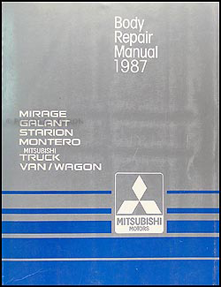 1987 Mitsubishi Body Manual Original