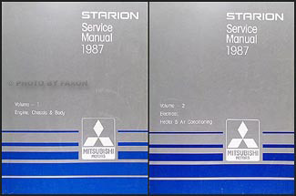 1987 Mitsubishi Starion Repair Manual Original 2 Vol. Set