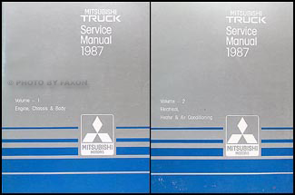 1987 Mitsubishi Truck Repair Manual Set Original
