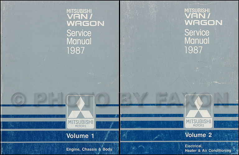 1988 Mitsubishi Van & Wagon Repair Manual 2 Volume Set Original