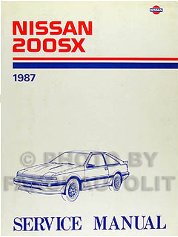 1987 Nissan 200SX Repair Manual Original