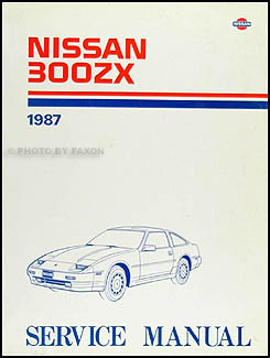 1987 Nissan 300ZX Repair Manual Original