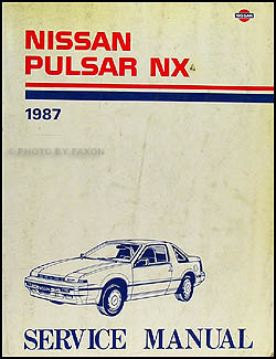 1987 Nissan Pulsar NX Repair Manual Original