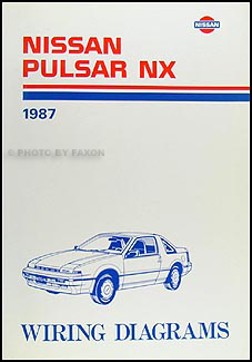 1987 Nissan Pulsar NX Wiring Diagram Manual Original
