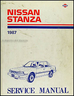 1987 Nissan Stanza Repair Manual Original