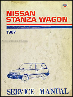 1987 Nissan Stanza Wagon Repair Manual Original