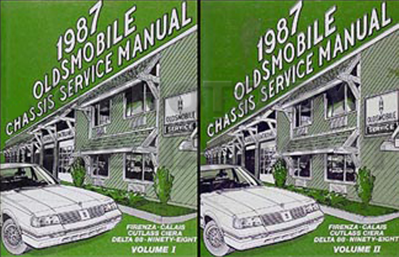 1987 Olds Firenza Calais Delta 88 98 Cutlass Ciera Repair Shop Manual Set