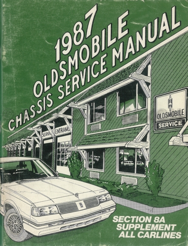 1987 Oldsmobile Electrical Diagnosis Manual Original Supplement