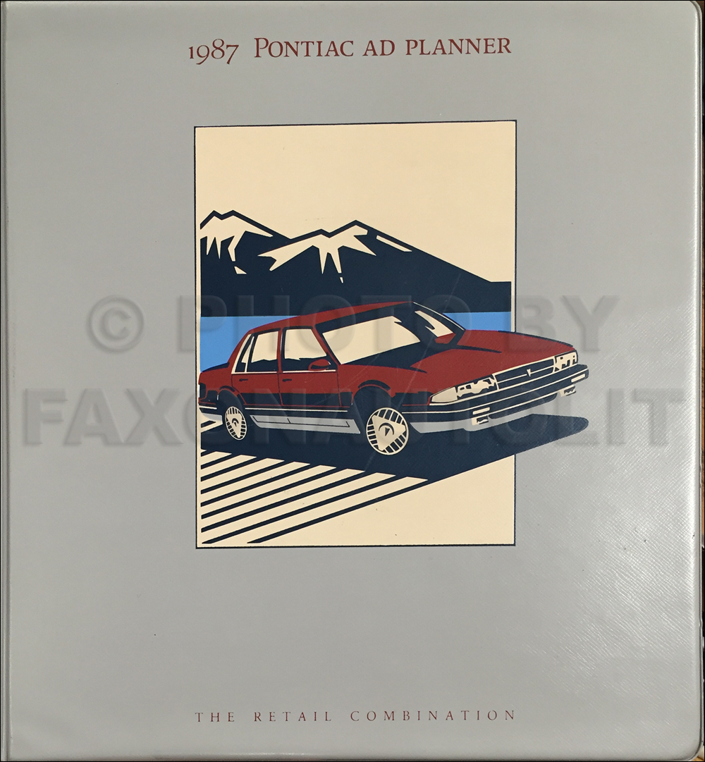 1987 Pontiac Dealer Advertising Planner Original