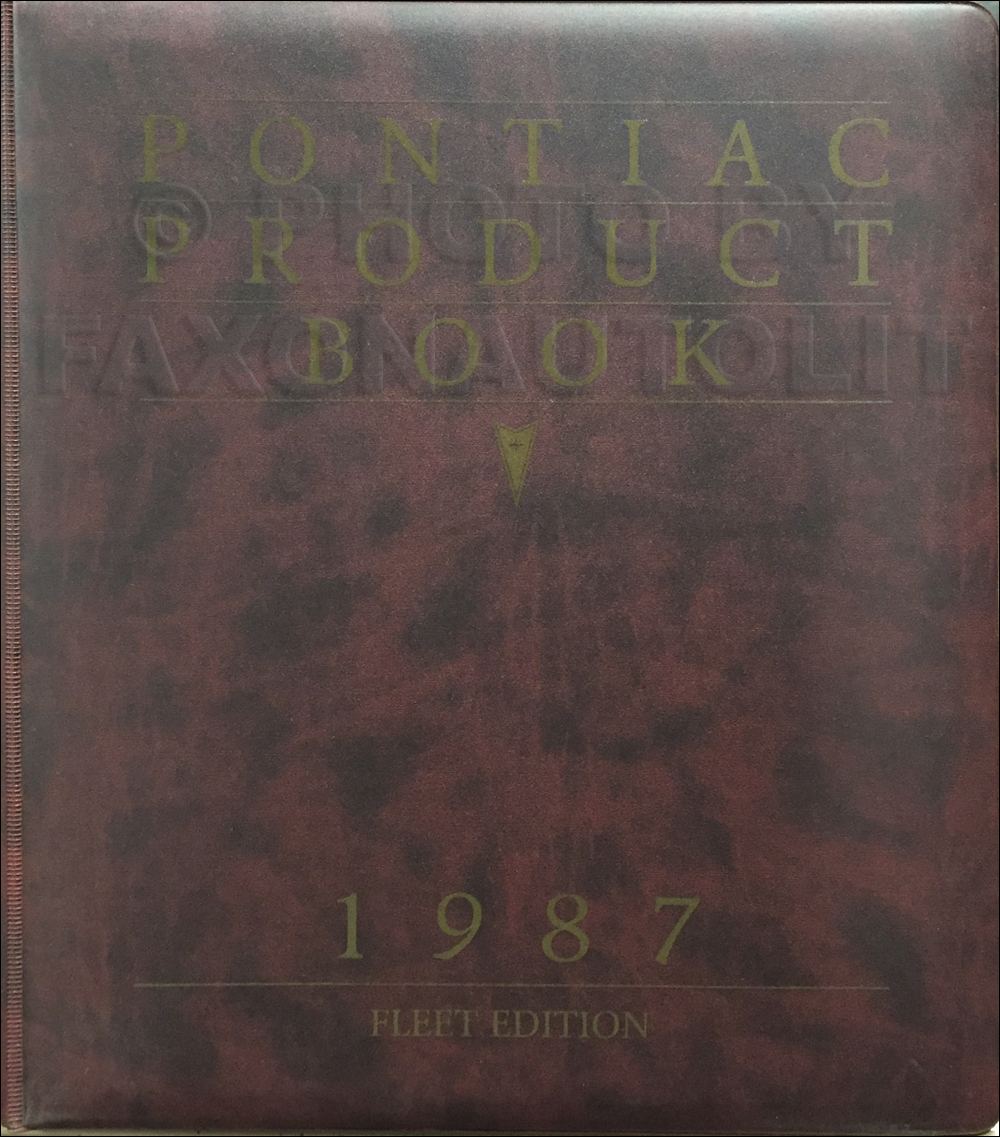 1987 Pontiac Data Book Dealer Album FLEET Edition Original