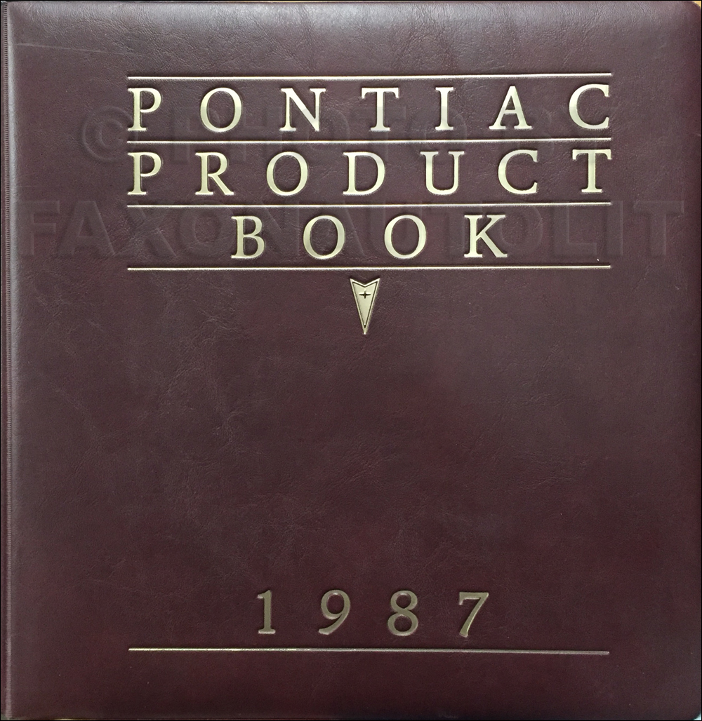 1987 Pontiac Data Book Dealer Album with Color and Upholstery Brochure Original - Small