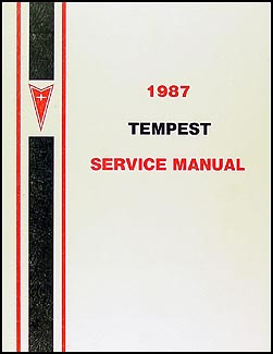 1987 Pontiac Tempest Canadian Shop Manual Original