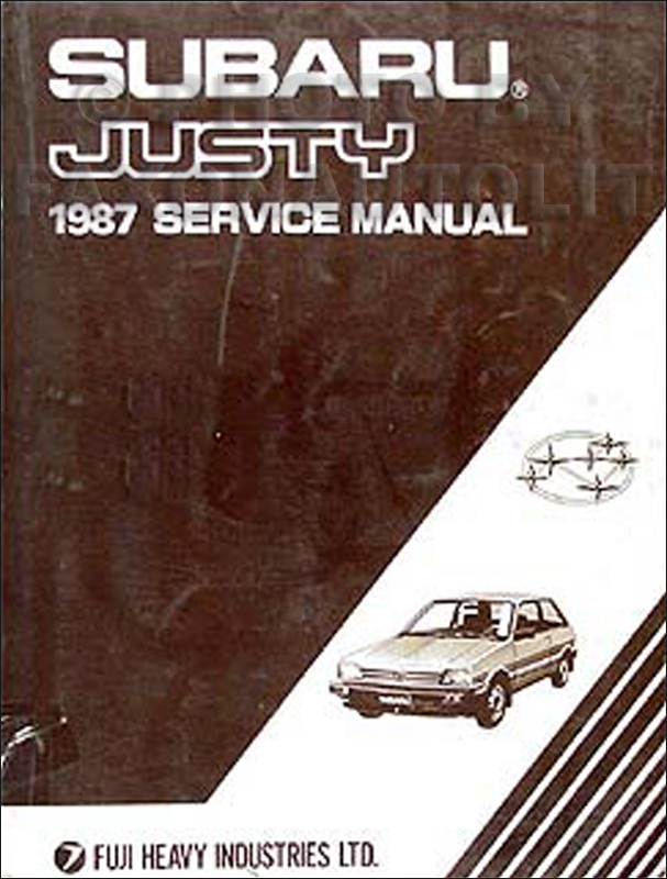 1987 Subaru Justy Repair Shop Manual Originalrhfaxonautoliterature: 1988 Subaru Justy Wiring Schematic At Gmaili.net