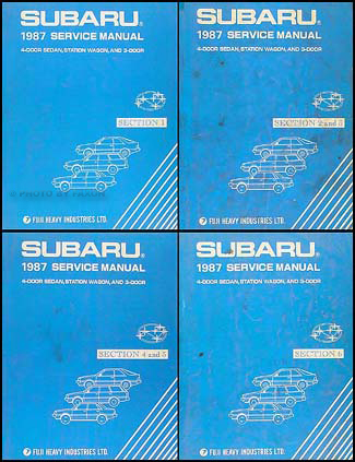 1987 Subaru Repair Shop Manual Set Original DL GL RX Turbo Brat