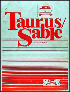 1987 Ford Taurus & Mercury Sable Repair Manual Original