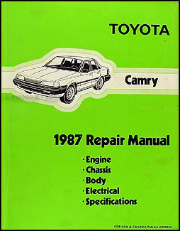 1987 Toyota Camry Repair Manual Original