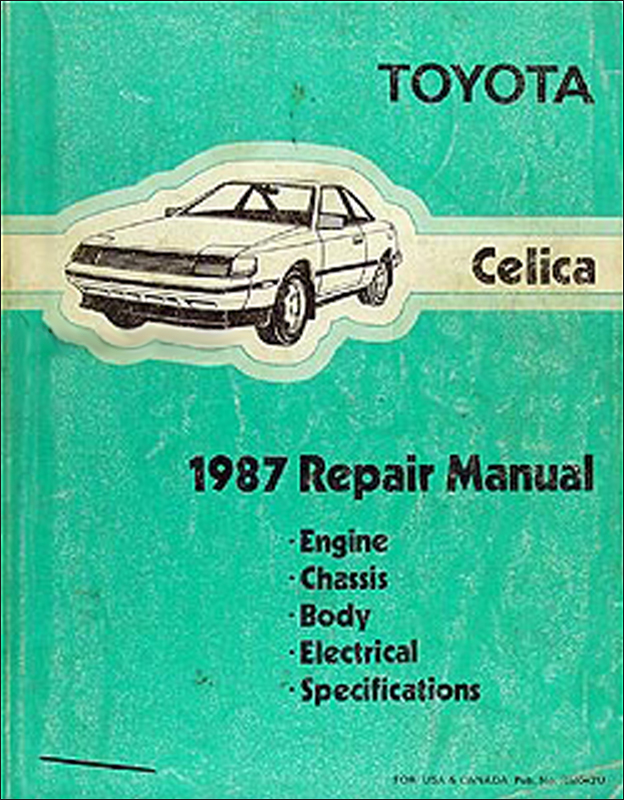 1987 Toyota Celica Repair Manual Original