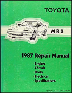 1987 Toyota MR2 Repair Manual Original