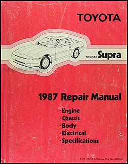 1987 Toyota Supra Repair Manual Original