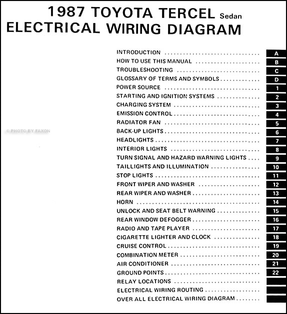 1992 Toyota Tercel Wiring Diagram - Wiring Diagram Write