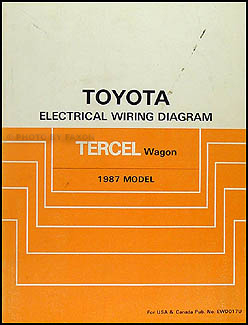 1987 Toyota Tercel Wagon Wiring Diagram Manual Original