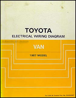 1987 Toyota Van Wiring Diagram Manual Original
