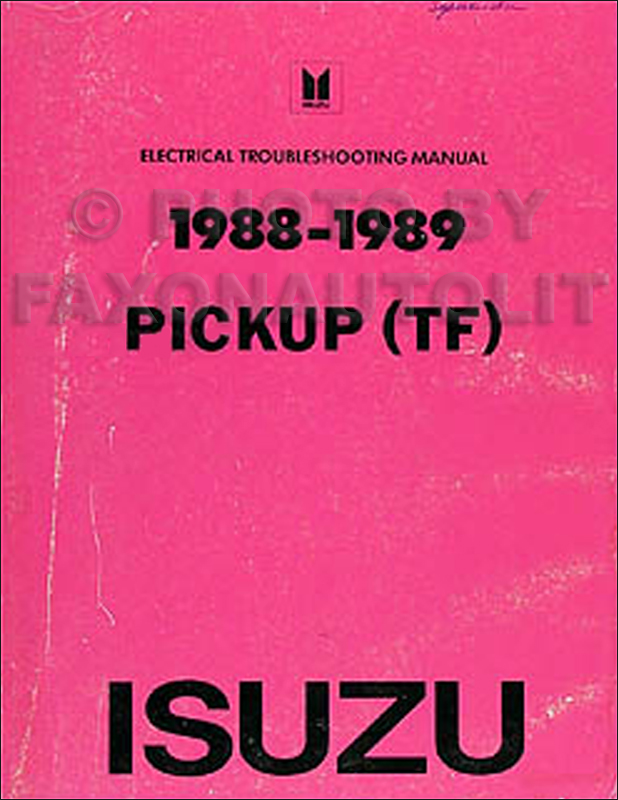 1988-1989 Isuzu Pickup Electrical Manual Original