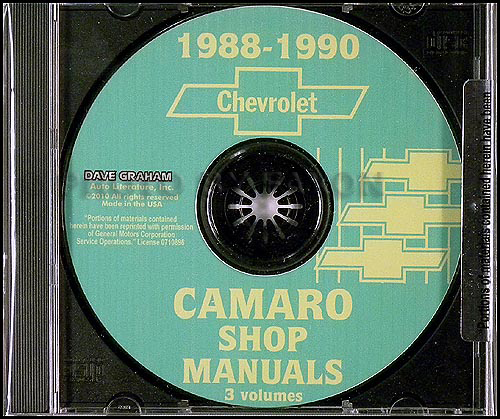 1988-1990 Chevrolet Camaro Repair Shop Manual CD
