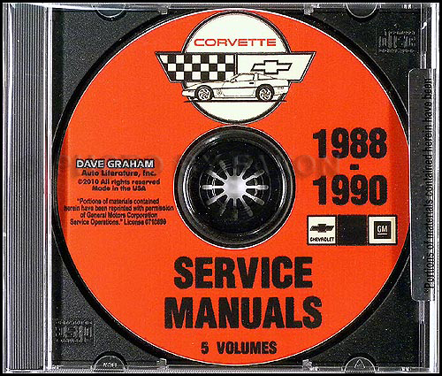 1988-1990 Chevrolet Corvette Service Manuals on CD-ROM
