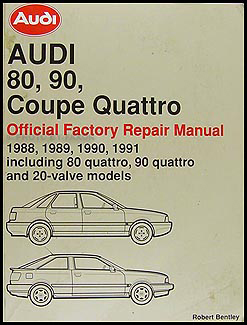 1988-1991 Audi 80 and 90 Bentley Repair Manual Original