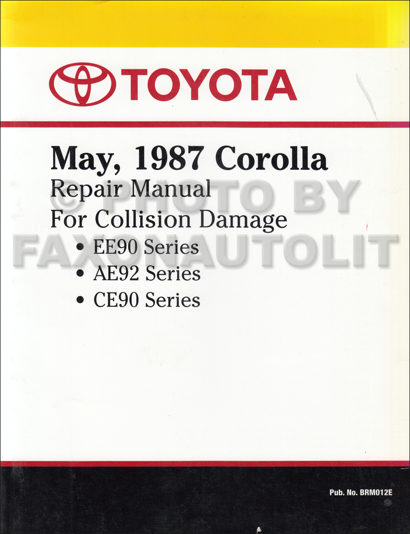 1991 Toyota Corolla Wiring Diagram Manual Original 91 Cressida 1988 1992 Body Collision Factory Reprint