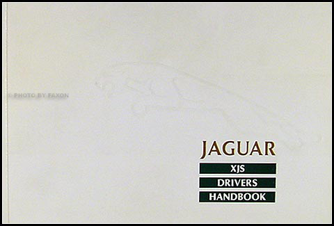 1988 ½ Jaguar XJS Owner's Manual Original
