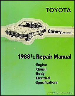 1988.5 Toyota Camry Repair Manual Original