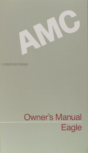 1988 AMC Eagle Owner's Manual Original