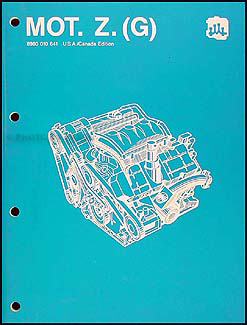 1988 Eagle Premier 6 Cylinder Engine Overhaul Manual Original