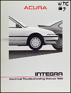 1988 Acura Integra Electrical Troubleshooting Manual Original