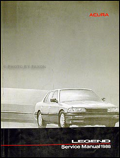 1988 Acura Legend Sedan Shop Manual Original