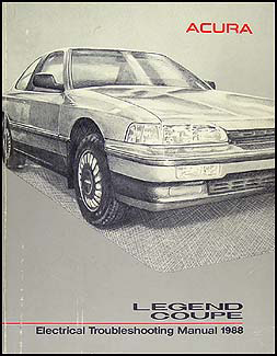 1988 Acura Legend Coupe Electrical Troubleshooting Manual Original