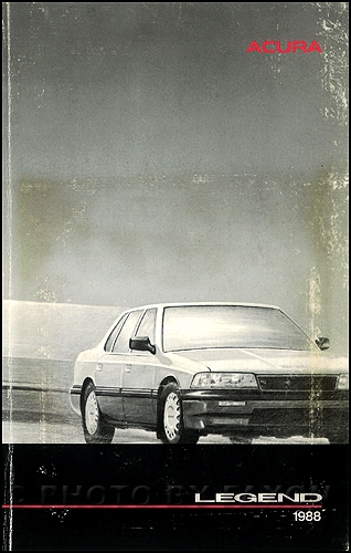 1988 Acura Legend Owners Manual Original 4 Door Sedan