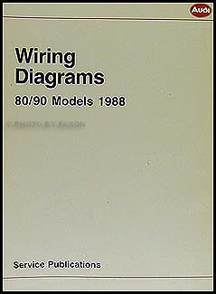 1988 Audi 80 and 90 Wiring Diagram Original | Audi B4 Wiring Diagram |  | Faxon Auto Literature