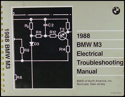 1988 BMW M3 Electrical Troubleshooting Manual