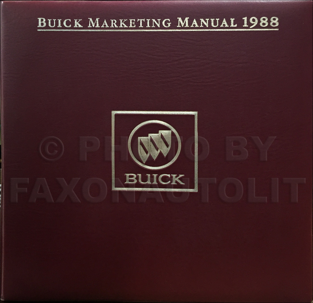 1988 Buick Color & Upholstery Dealer Album/Data Book Original