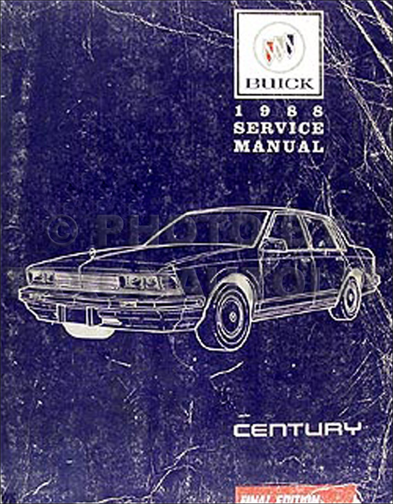 1988 Buick Century Repair Manual Original