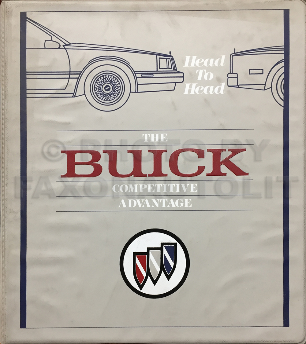 1988 Buick Competitive Comparison Dealer Album Original